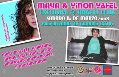 YINON YAHEL & MAYA SIMANTOV LIVE AT ANGEL'S CLUB GDL MEX.