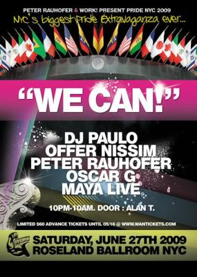 OFFER NISSIM - WE CAN - MIX COMPILATION - PRIDE NYC 2009 + DOWNLOAD SET !!