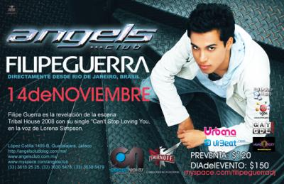 ANGELS CLUB PRESENTA: DJ FILIPE GUERRA 14.11.09 + SET BY ERIC SANTANA !!